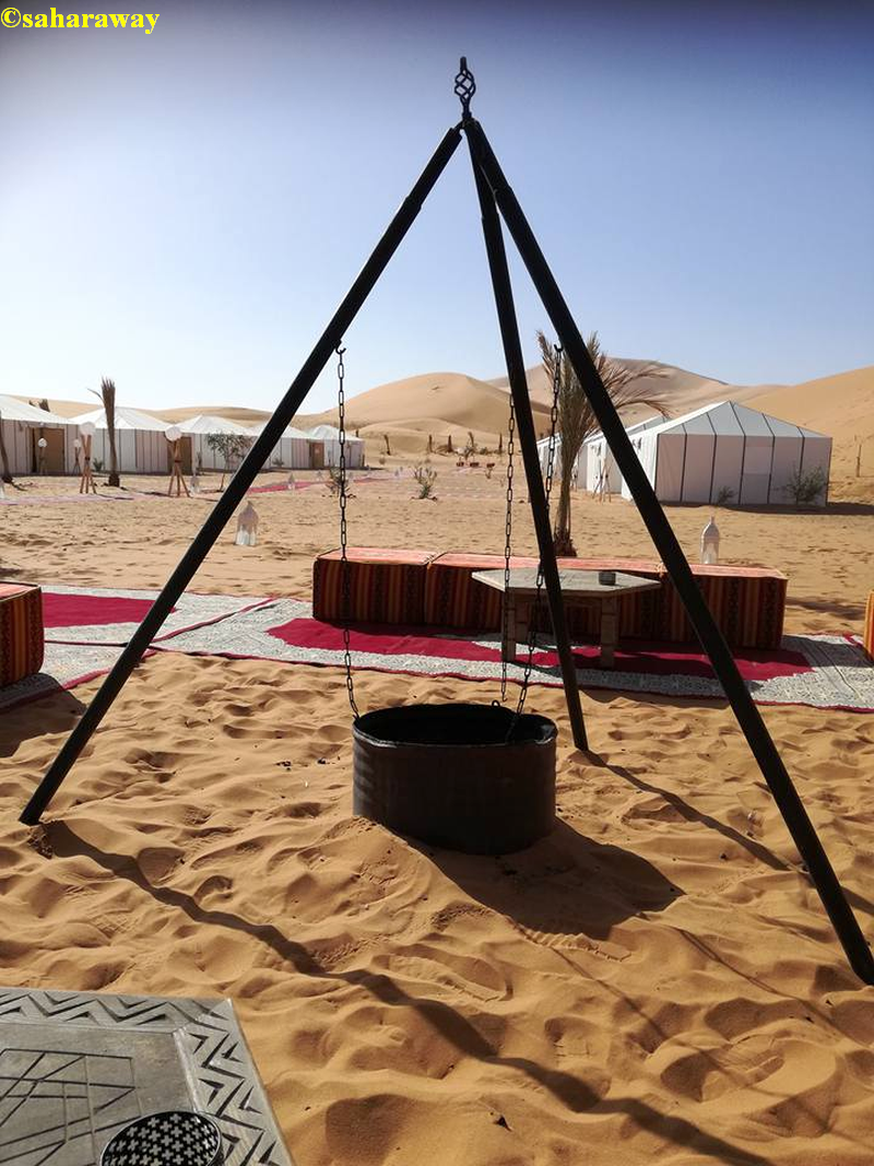 our luxury tent camp in sahara desert